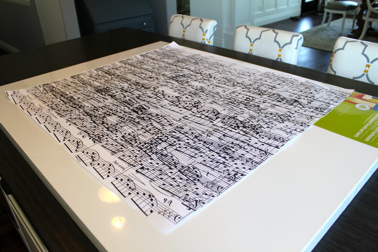 Amy S Casablanca Diy Sheet Music Artwork