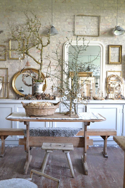 French Country White Washed Floor