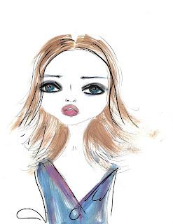 Bebee Pino brown watercolor girl