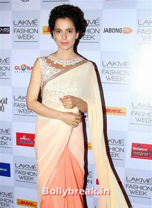 Kangana Ranaut, Bollywood Actresses at Manish Malhotra Show at LFW Summer Resort 2014