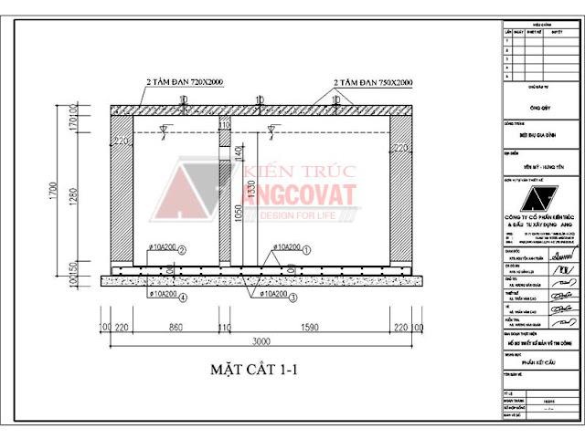 Đảm bảo vị trí đặt bể cách móng nhà tối thiểu 10m