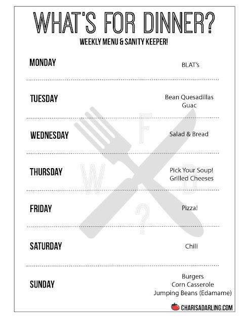 Love to Cook, Hate to Plan: Weekly Menu Planner (Week 14