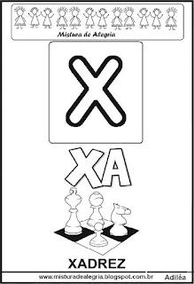 Cartaz das famílias silábicas do X