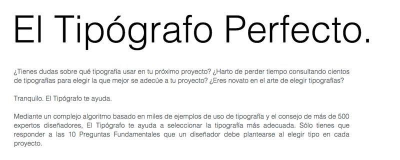 El tipógrafo perfecto, elige la mejor tipografía