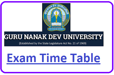 GNDU Even Sem Date Sheet 2021