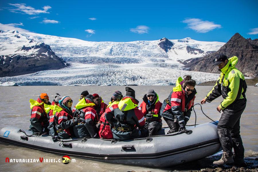 Excursión al Glaciar Fjallsarlon, Islandia