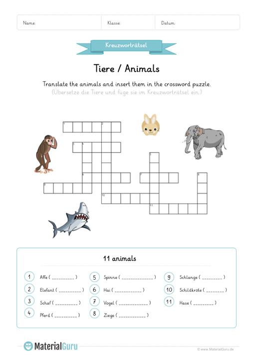 Vervollständigen Kreuzworträtsel