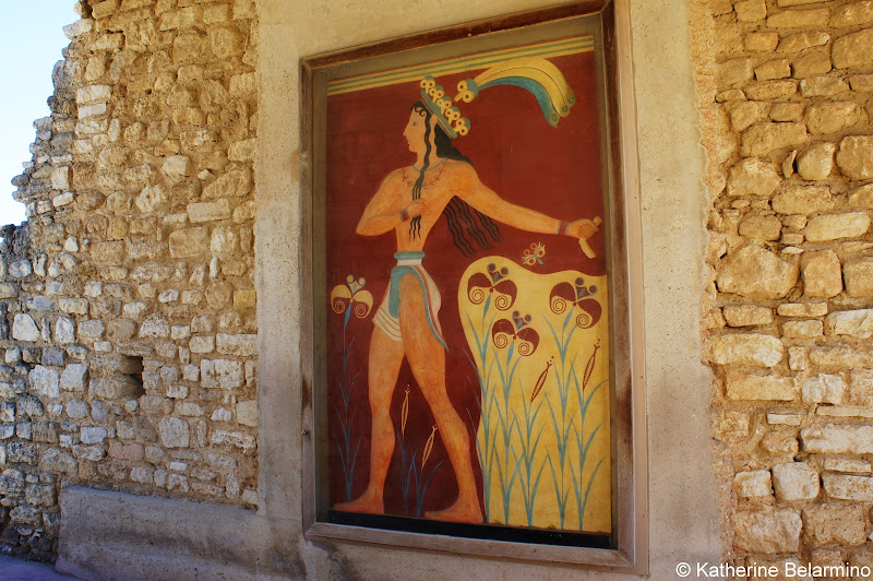Prince of the Lillies Fresco Palace of Knossos Things to Do in Crete