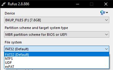 Cara Membuat Flashdisk Menjadi Bootable (Tampilan Aplikasi Rufus)
