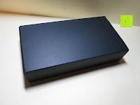 Box: Kugelschreiber Bow Aluminium silber Ständer