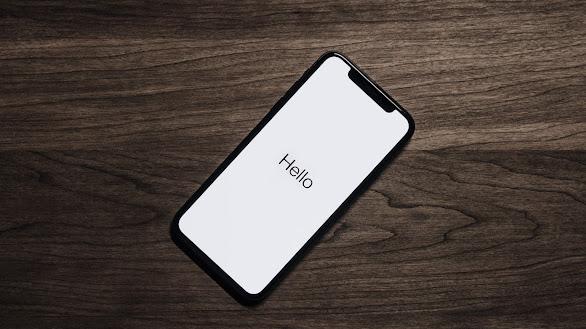 Hello On Black iPhone