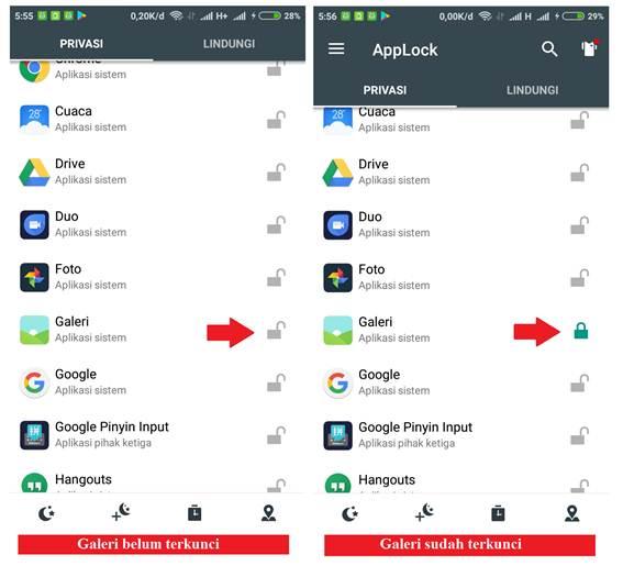 Gambar untuk Cara Mengunci Aplikasi dengan Bantuan Aplikasi Pihak Ketiga