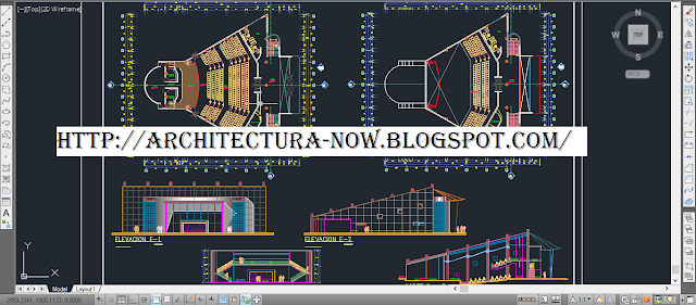 AutoCAD theater project - dwg theater project
