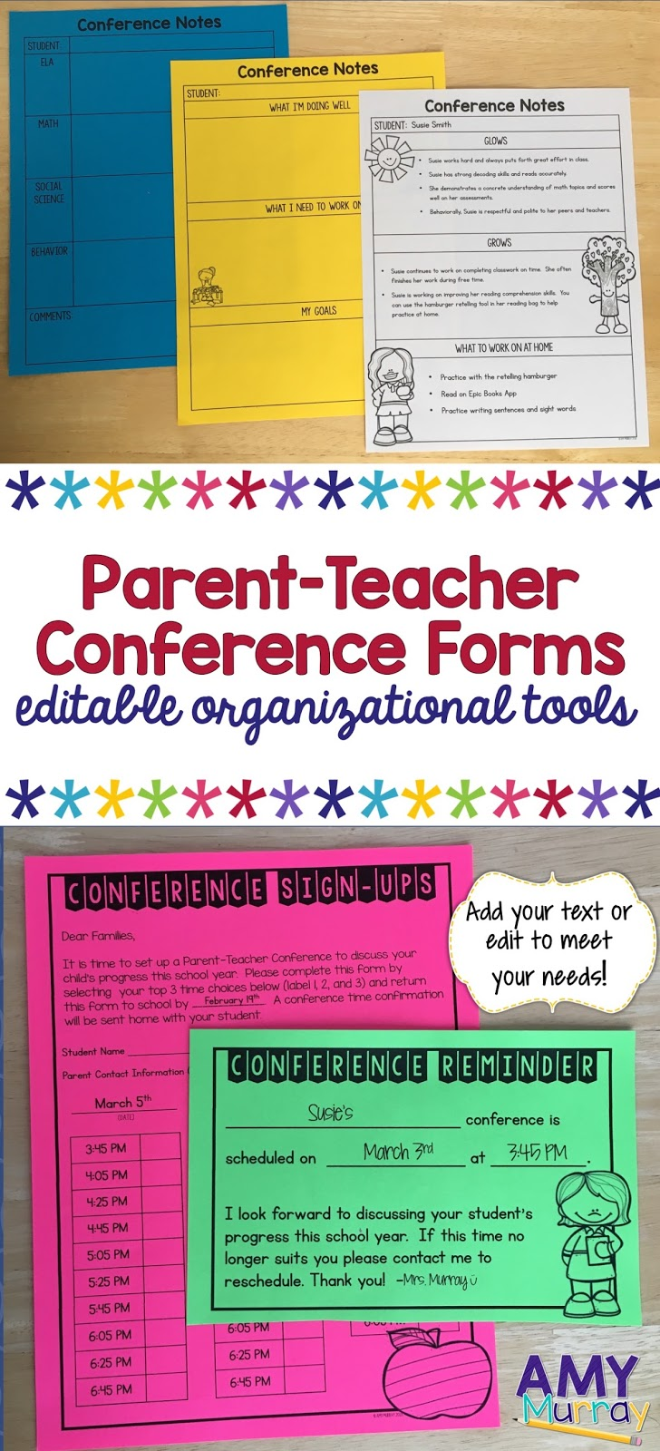 Editable Parent Teacher Conference Forms How To Prepare For Conferences Teaching Exceptional