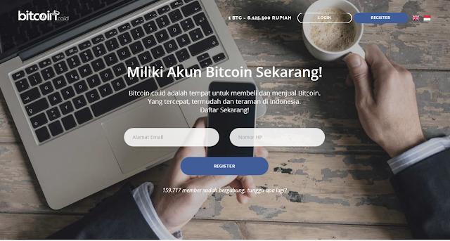cara membuat wallet di bitcoin.co.id secara gratis