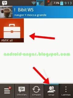cara membuka grup BBM Android