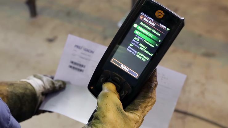 Сканирование штрих-кода рабочего задания