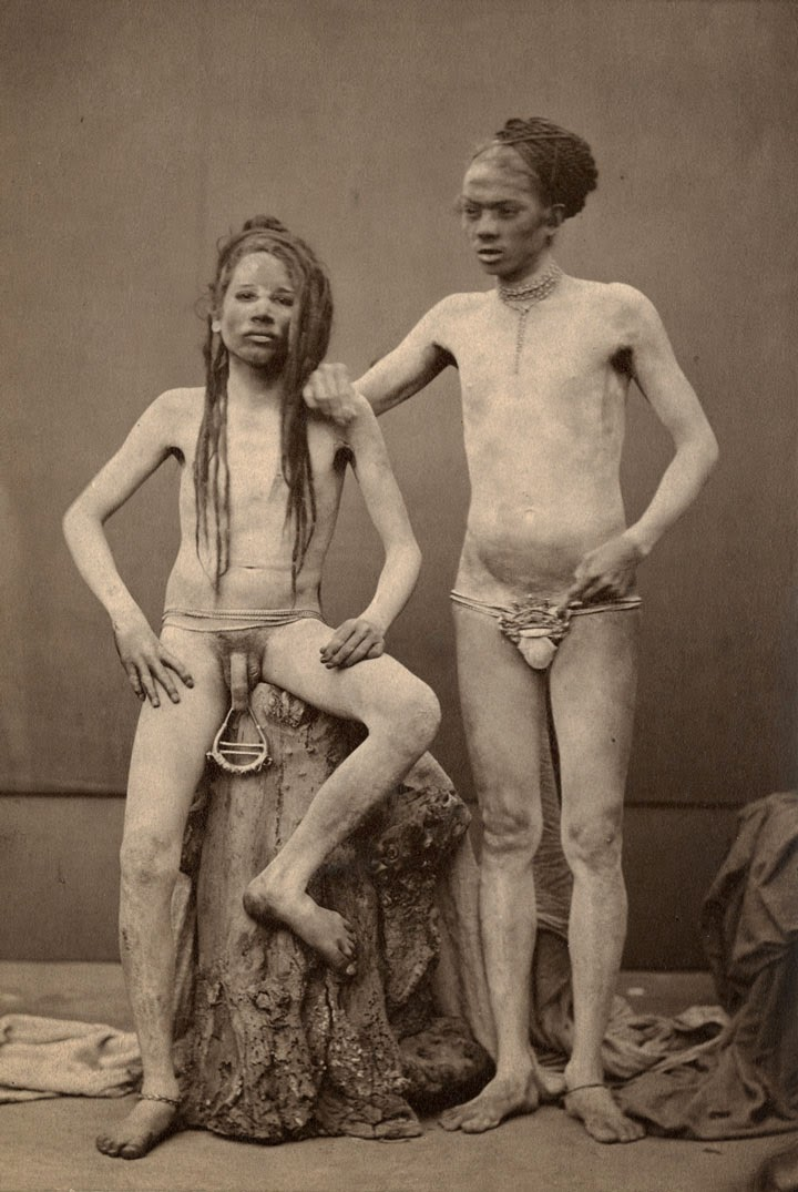 Two Hindu Sadhus - Late 19th Century Photograph