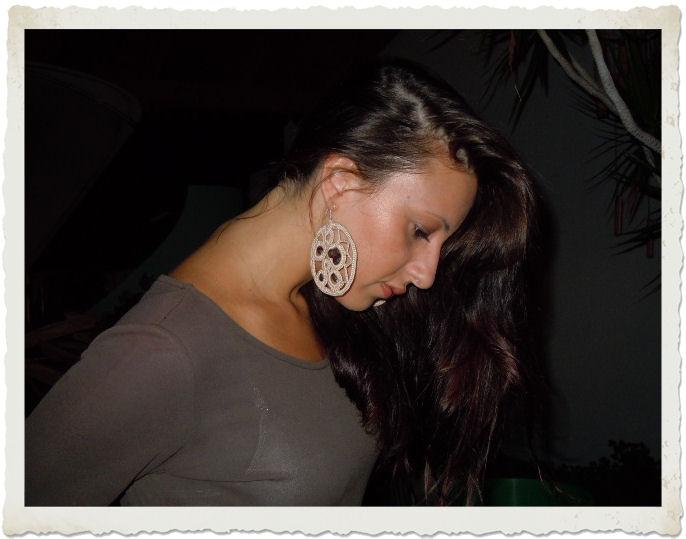 orecchini uncinetto handmade Dima