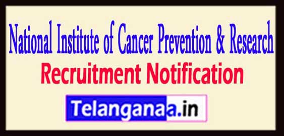 NICPR National Institute of Cancer Prevention Research Recruitment 2017