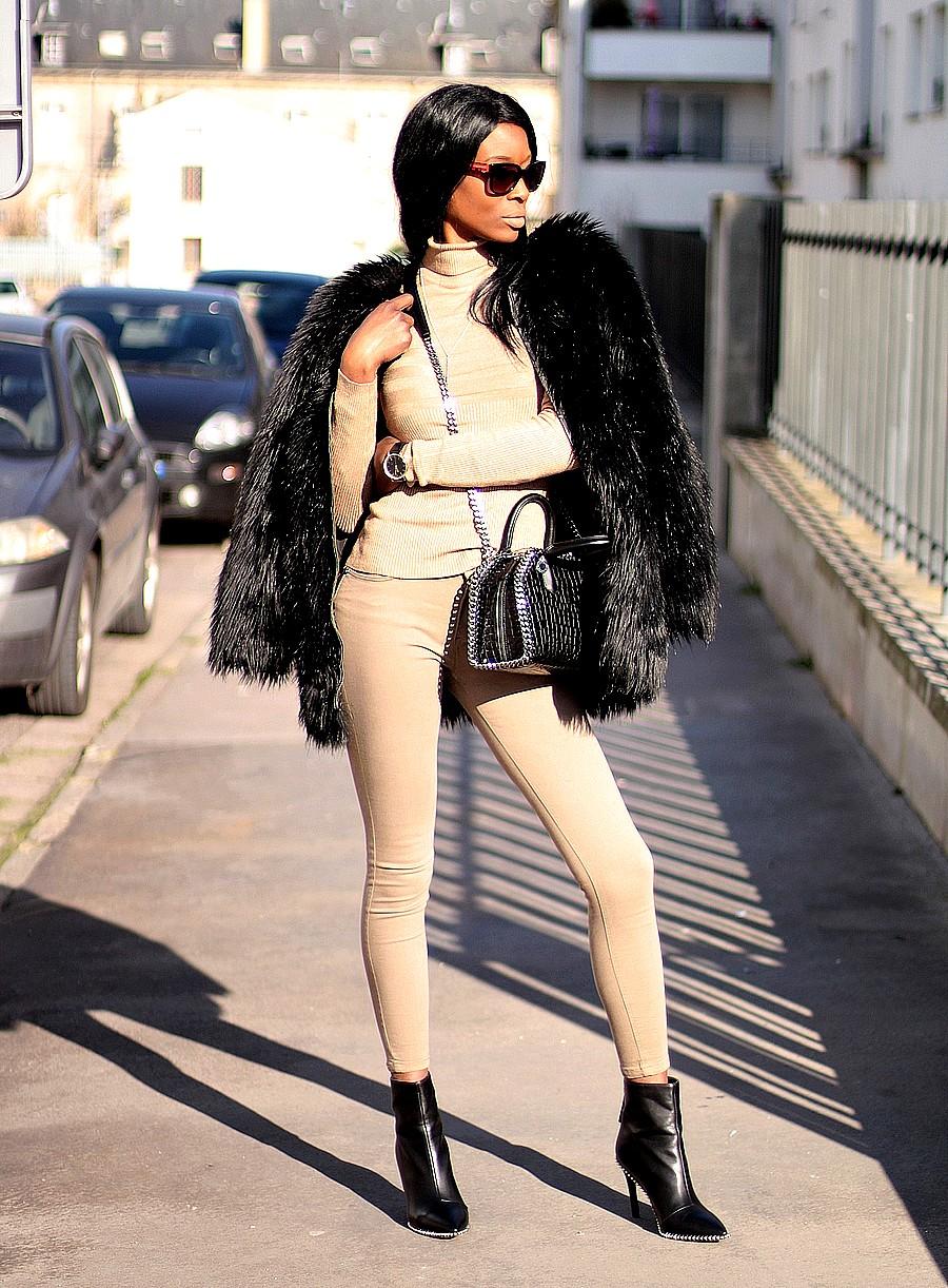 idee-look-avec-manteau-fourrure-noir