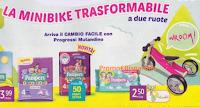 Logo Pampers e Tigotà: vinci 150 Minibike trasformabili