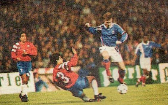 Francia y Chile en partido amistoso, 22 de marzo de 1994