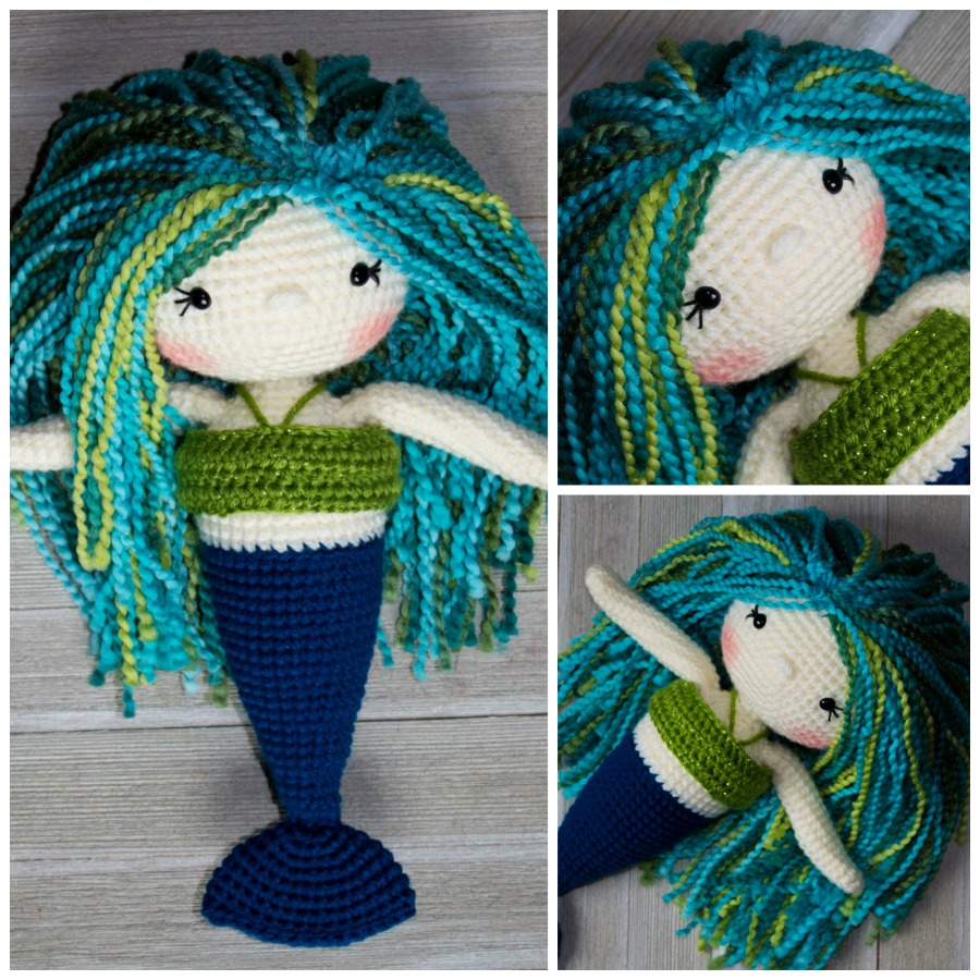 The Friendly Mermaid Crochet Doll Thefriendlyredfoxcom