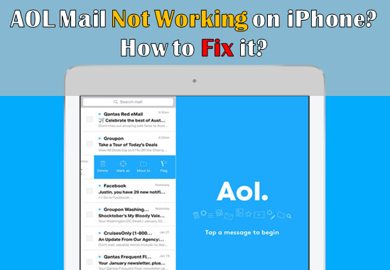 why has my aol mail stopped working on my iphone