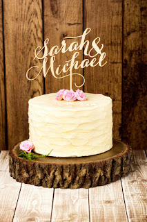 Favorite laser cut wedding cake toppers