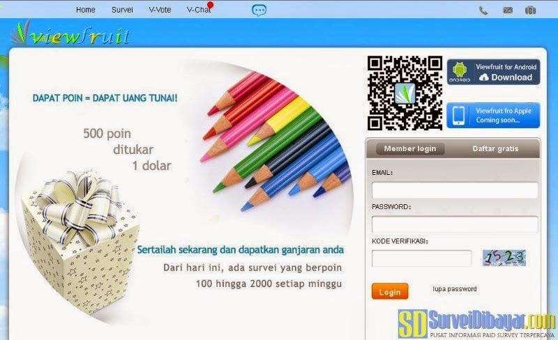 Situs paid survey Viewfruit | Survei Dibayar