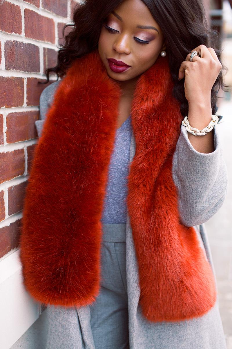Winter look, stole, statement coats, www.jadore-fashion.com