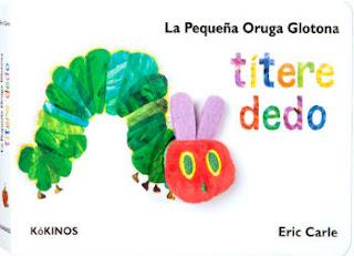 mejores cuentos para niños de 2 a 3 años de edad, pequeña oruga glotona titere dedo