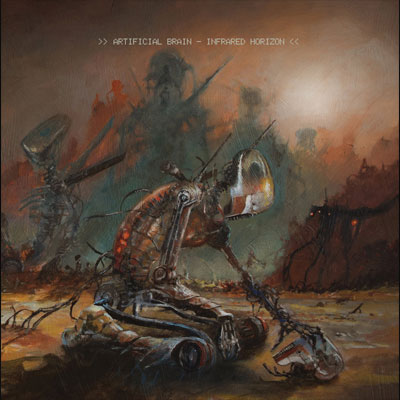 The 10 Best Album Cover Artworks of 2017: 09. Artificial Brain - Infrared Horizon