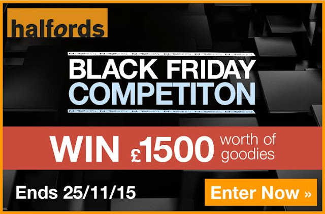 Win Amazing Prizes with Halfords for Black Friday