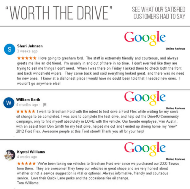 Online Reviews for Gresham Ford