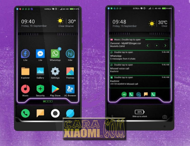 MIUI Theme Blacky OS Light For [V9 Theme/V8 Theme] [30+ Dark Themed Apps]