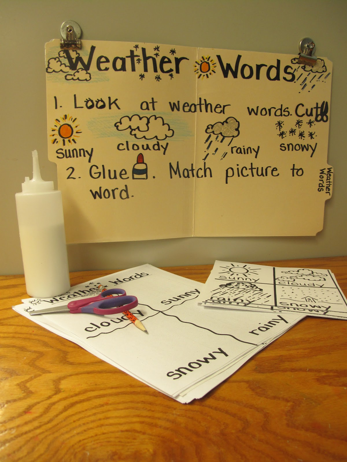 Metamora Community Preschool Weather Words