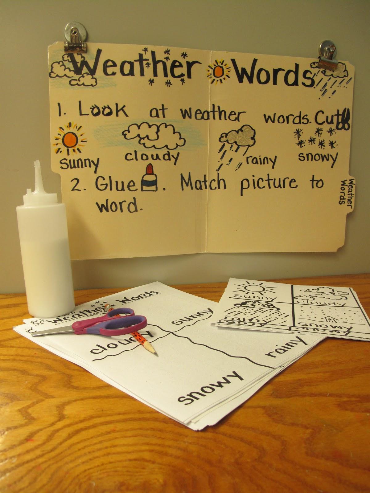 Metamora Community Preschool Weather Words
