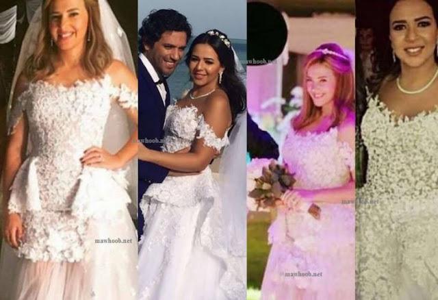 شاهد حقيقة إرتداء إيمي غانم فستان زفاف شقيقتها في عرسها! سخرية عارمة بسبب فستانها المكرر !