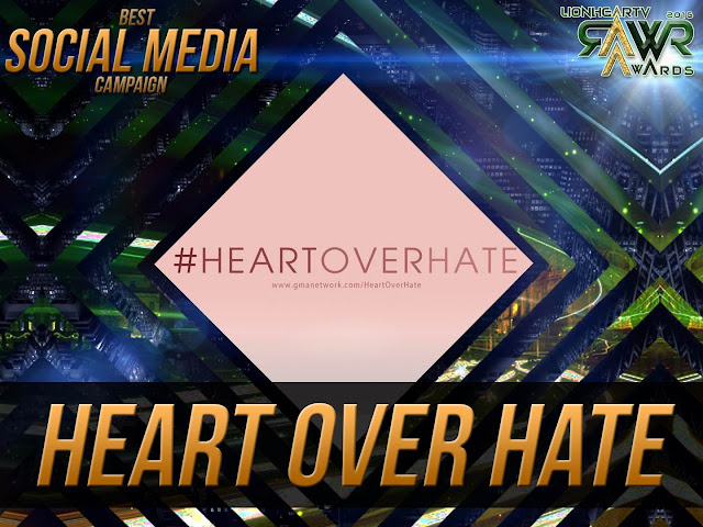 LION: GMA Network's #HeartOverHate bags Best Social Media Campaign of the Year #RAWRAwards2016