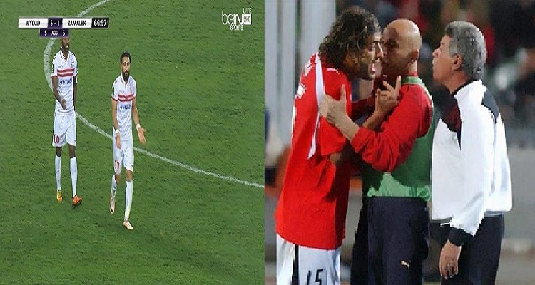 باسم مرسي يحتج على قرار استبداله في مباراة الوداد و يكرر واقعة ميدو مع حسن شحاتة