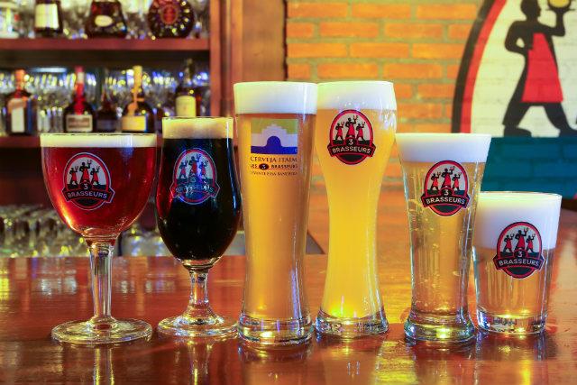 Cervejas artesanais produzidas na Les 3 Brasseurs