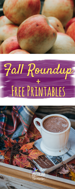 An awesome Fall round up with yummy recipes, fun mugs, pretty fashion, and free printables.