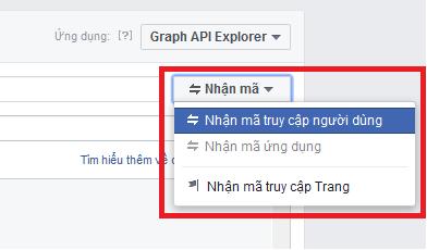 Cách lấy mã Facebook Token