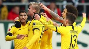 بوروسيا دورتموند يتغلب على فريق فيردر بريمن ويصل للمركز الثاني في الدوري الالماني