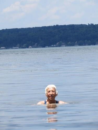 swimming in Cayuga Lake