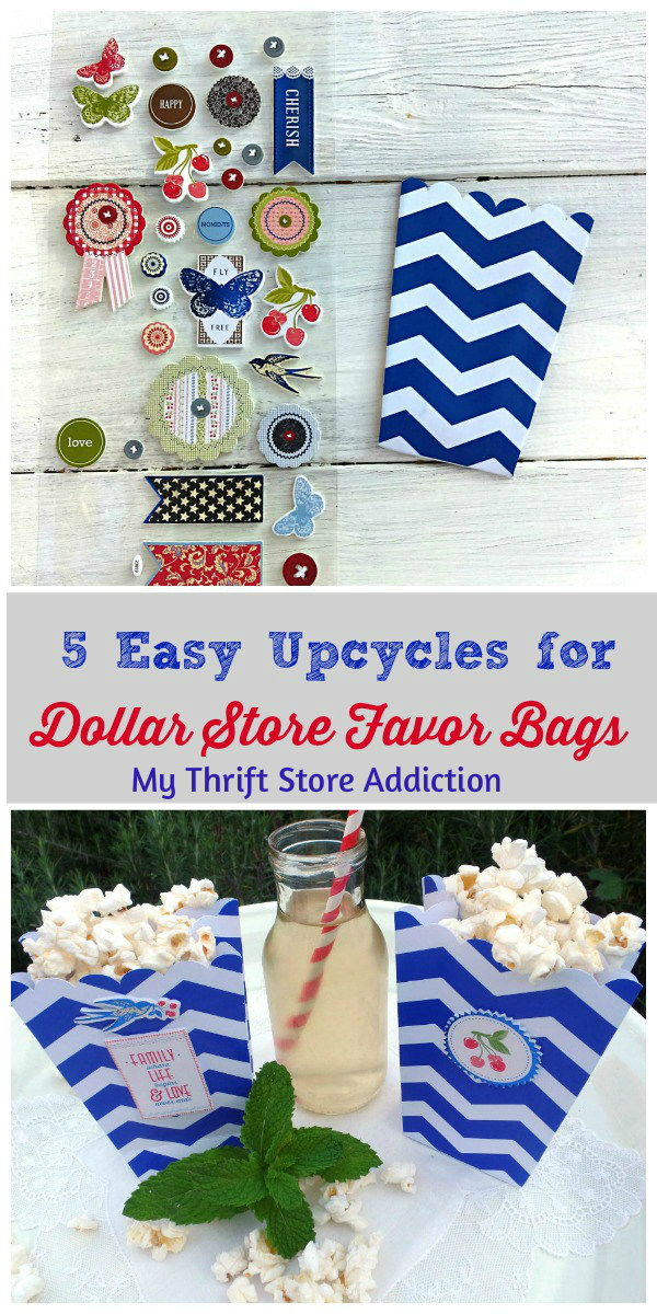 upcycled dollar store favor bags