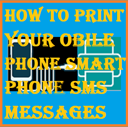 printing Mobile phone Smartphone SMS messages
