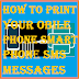 How to print your Mobile phone Smartphone SMS messages